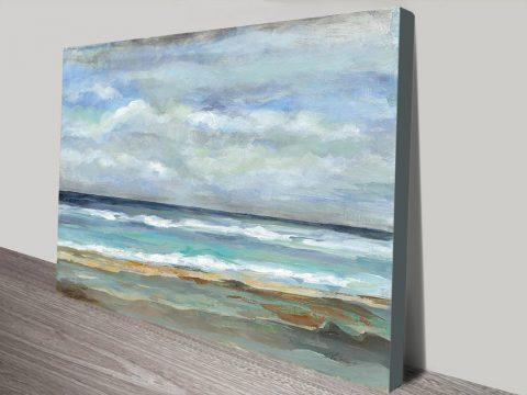Atmospheric Sea Scene On Canvas