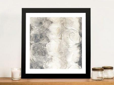 Grey Circles - By Chris Paschke Canvas Art