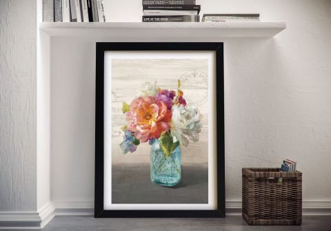 French Cottage Bouquet l Canvas Wall Art