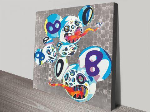 Amazing Anime Street Art Canvas Prints Melting DOB Complex Blue By Takashi Murakami