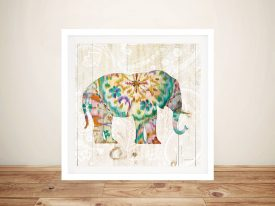 Boho Paisley Elephant l Best Canvas Prints