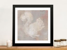 Lodge Fauna - Squirrel Canvas Wall Art
