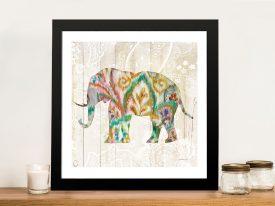Boho Paisley Elephant ll Canvas Artwork