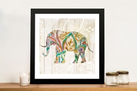 Boho Paisley Elephant ll Canvas Artwork