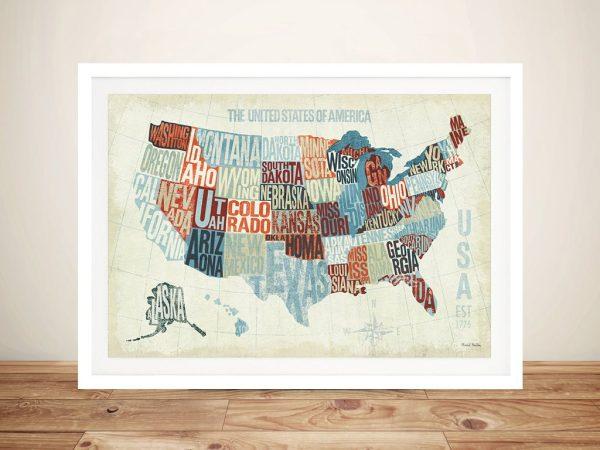 USA Modern Blue By Michael Mullan Cheap Prints