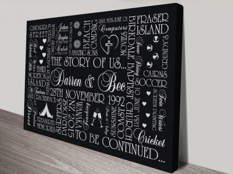 The Story of Us Custom Art Gift