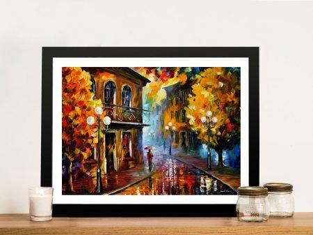 Fall Rain 2 Leonid Afremov Framed Wall Art