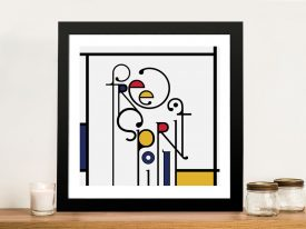 Futuracha - Free Spirit Mondrian Typography Canvas Art