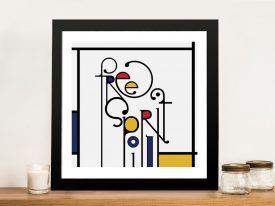 Futuracha - Free Spirit Mondrian Typography Canvas Art