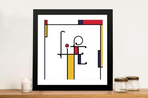 Futuracha - Life Mondrian Typography Gift Ideas