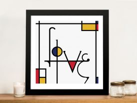 Futuracha - Love Mondrian Typography Great Gift Ideas