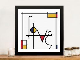 Futuracha - Love Mondrian Typography Great Gift Ideas