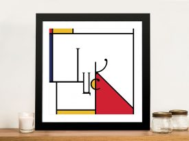 Futuracha - Luck Mondrian Typography Wall Art For Sale