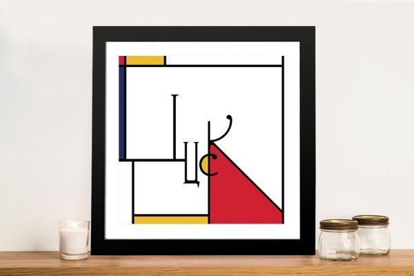 Futuracha - Luck Mondrian Typography Wall Art For Sale