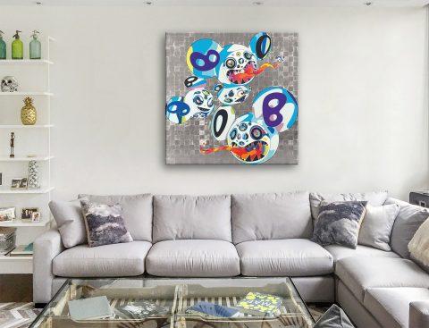 Melting Dob Complex Blue Takashi Murakami Canvas Print