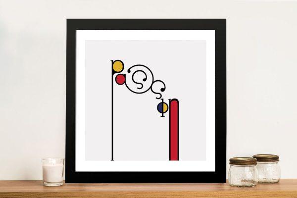 Futuracha - Passion Mondrian Typography Wall Art Online