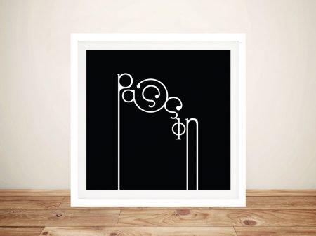 Futuracha - Passion Mondrian Typography B&W Pop Art