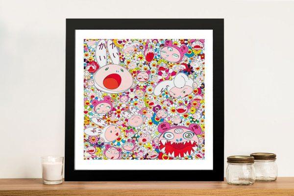 New Day Kaikai & Kiki Faces All Over Canvas Pop Art