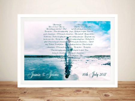 Bespoke Italics Photo Hearts Word Art