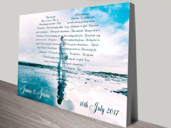 Personalised Italics Photo Hearts Word Art Gifts Online Australia