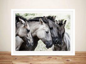 Four Konik Horses By Jaap Van Den Canvas Photo Prints