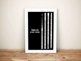 Thriller By Michael Jackson Soundwave Art