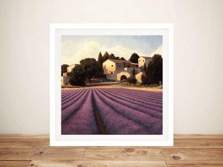 Framed James Wiens Lavender Fields Art