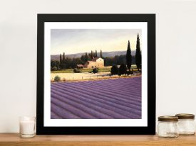 Lavender Fields II By James Wiens Wall Art