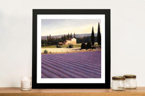 Lavender Fields II By James Wiens Wall Art