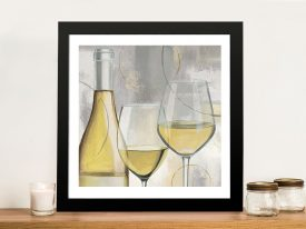 Taste Appeal White ll Canvas Wall Art
