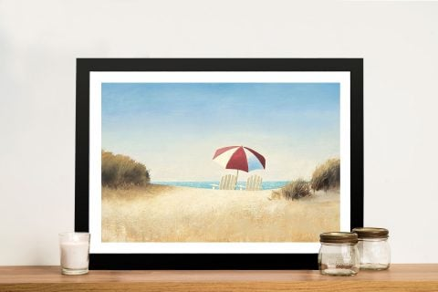 Morning Beach By James Wiens Art Prints on Canvas