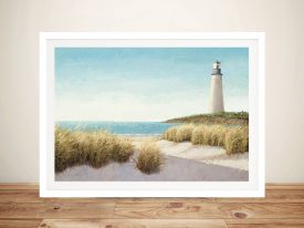 Lighthouse By The Sea Print On Canvas
