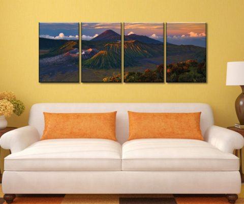 Volcano Dawn 4 Piece Artwork