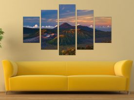 Volcano Dawn Split Diamond Wall Art