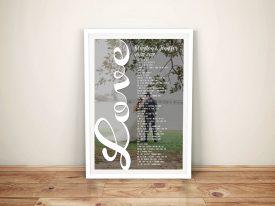 Wedding Anniversary Word Photo Canvas Art Sydney