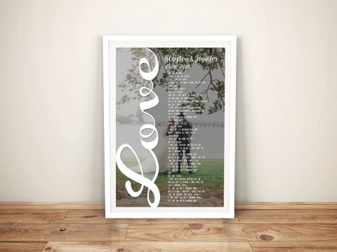 Wedding Anniversary Word Photo Canvas Art Sydney