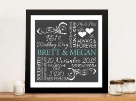 Romantic Flourish Custom Word Art Gift