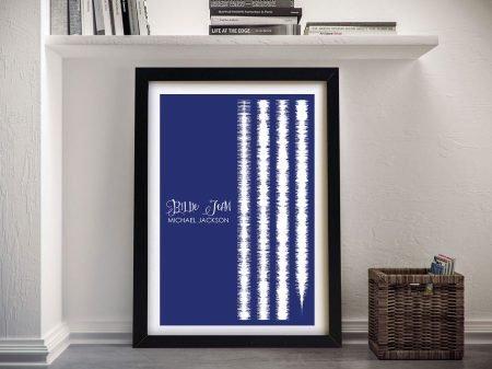 Bille Jean Soundwaves Print