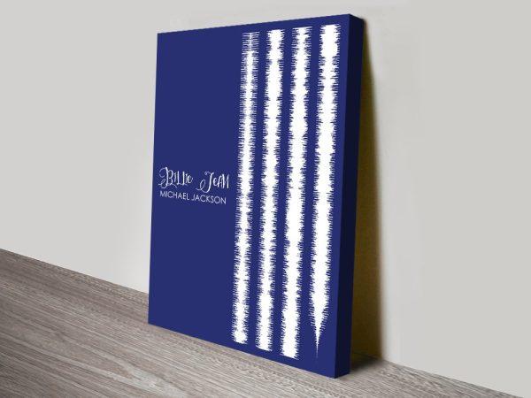 Buy Billie Jean Soundwave Artwork Prints Online