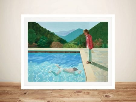 David Hockney Portrait of an Artist Pool with Two Figures Framed Wall Art Picture