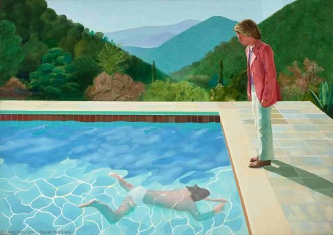 David Hockney Portrait of an Artist Pool with Two Figures Art Print