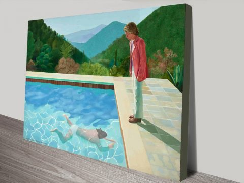 David Hockney Portrait of an Artist Pool with Two Figures Canvas Print Australia