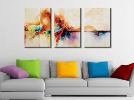 Genesis Abstract Triptych Split Canvas