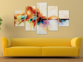 Genesis Abstract Diamond Split Canvas