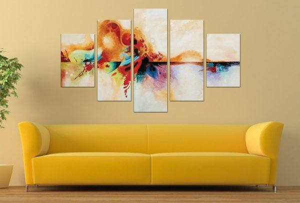 Genesis Abstract Diamond Split Canvas