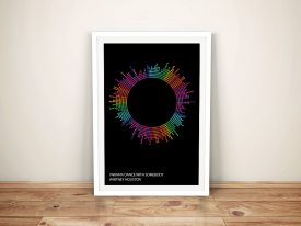 Whitney Houston Soundwaves Print