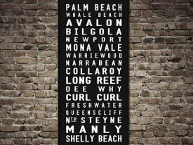 Northern Beaches of Sydney Palm Beach Contemporary Tram Scroll