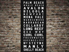 Northern Beaches of Sydney Palm Beach Contemporary Tram Scroll