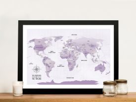 Personalised Push Pin Travel World Map