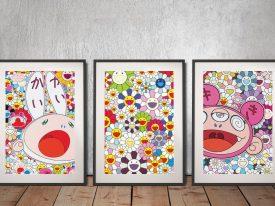 Kaikai & Kiki Dreaming of Shangri-La Triptych Wall Art